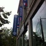 Habillage de la façade de l'office de tourisme de Saint-Etienne