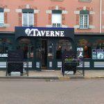 Enseigne, drapeau et vitrophanie La Taverne à Andrézieux-Bouthéon