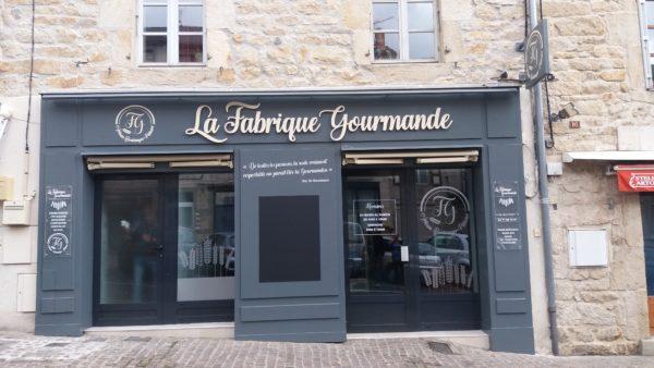 Dépoli sur vitrine – Boulangerie LA FABRIQUE GOURMANDE à Saint-Julien-Chapteuil