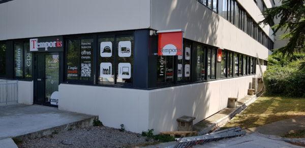 Enseigne et vitrophanie – TEMPORIS à St Chamond