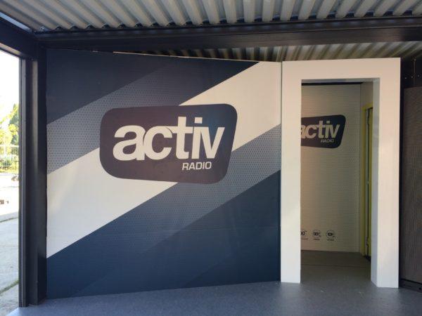Impression numérique sur PVC – ACTIV RADIO – FOIRE INTERNATIONALE DE ST ETIENNE