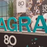 Création graphique et décor imprimé sur Akylux et PVC – LES 80 ANS SAGRA BIGMAT – RIVAS