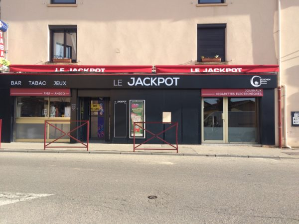 Enseigne tôle tablette – LE JACKPOT à Sorbiers