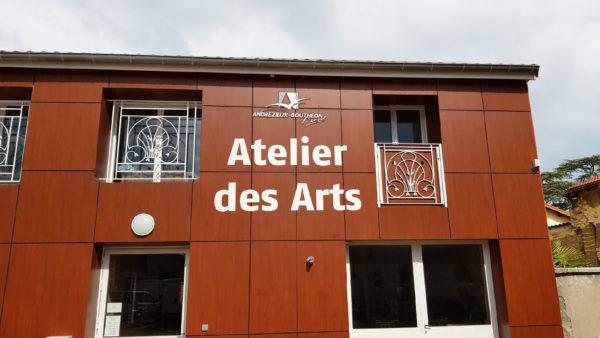 Lettrage et logo en dibond – MAIRIE D'ANDREZIEUX BOUTHEON