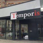 Vitrophanie – Adhésifs découpés à la forme + adhésifs dépoli – TEMPORIS à Montbrison