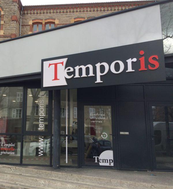 Enseigne lumineuse rétro-éclairée – TEMPORIS à Montbrison