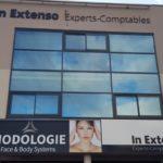 Enseigne en lettres PVC découpées à la forme – IN EXTENSO à Montbrison (42)