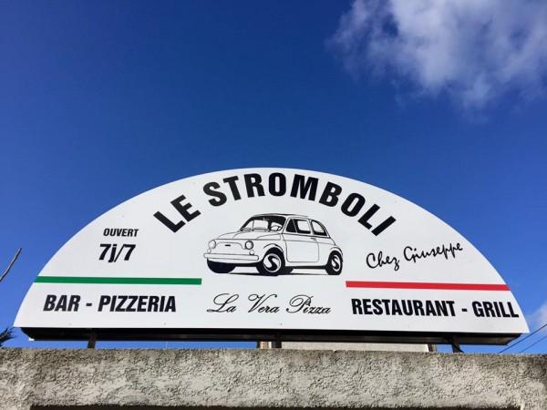 Enseigne en dibond découpé + impression numérique Le Stromboli