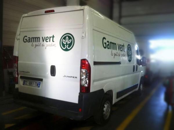 Marquage véhicule Gamm vert