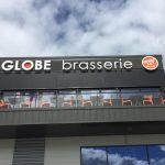 Lettrage en lettre boîtier plexi avec retro éclairage leds – Le Globe Brasserie à Saint-Genest-Lerpt