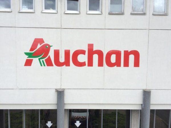Enseigne en alu dibon Auchan à Clermont Ferrand