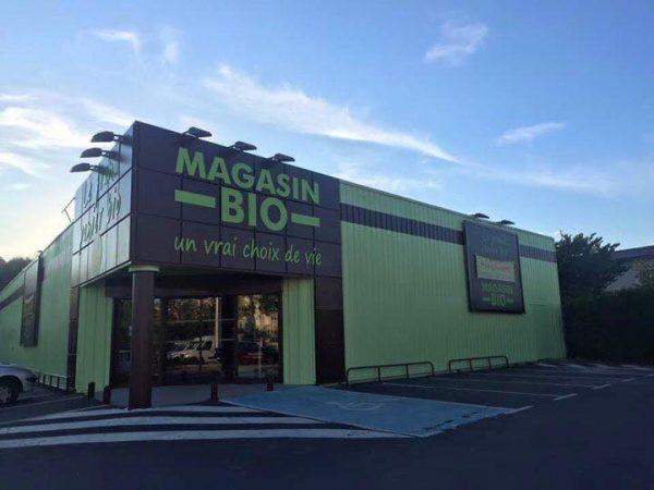 Enseignes et signalétiques du Grand Panier Bio du Puy en Velay