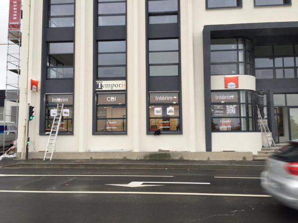 Enseigne et signalétique siège de Temporis à St Etienne
