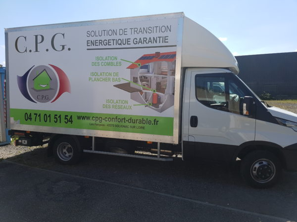 Marquage véhicule – C.P.G.- Gpe GAUTHIER à Solignac Sur Loire