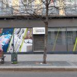 Habillage de vitrine en impression numérique et enseigne – LE CLUB DE LA PRESSE à St Etienne