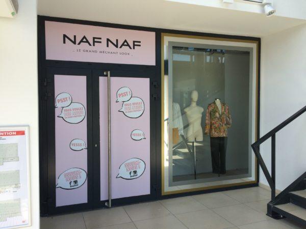 Adhésif et décor en adhésif or/miroir/dépoli – NAF NAF à Andrézieux-Bouthéon (42)