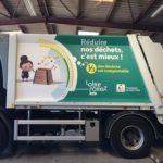 Marquage semi-covering sur camion – LOIRE FOREZ pour le département de la Loire