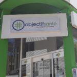 Enseigne en caisson lumineux – PHARMACIE NEYRET du groupe OBJECTIF SANTE à St Etienne (42)
