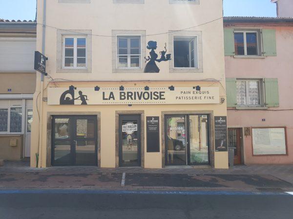 Enseigne en dibond + adhésifs – LA BRIVOISE à Brives-Charensac