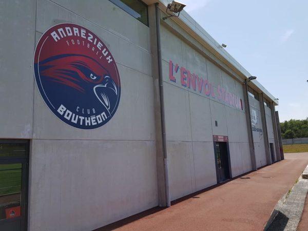 Changement de logos ABFC (anciennement ASF) – L'ENVOL STADIUM à Andrézieux-Bouthéon