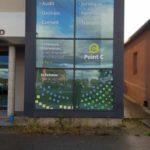 Adhésifs sur vitres découpés à la forme – INEXTENSO à Montbrison (42)